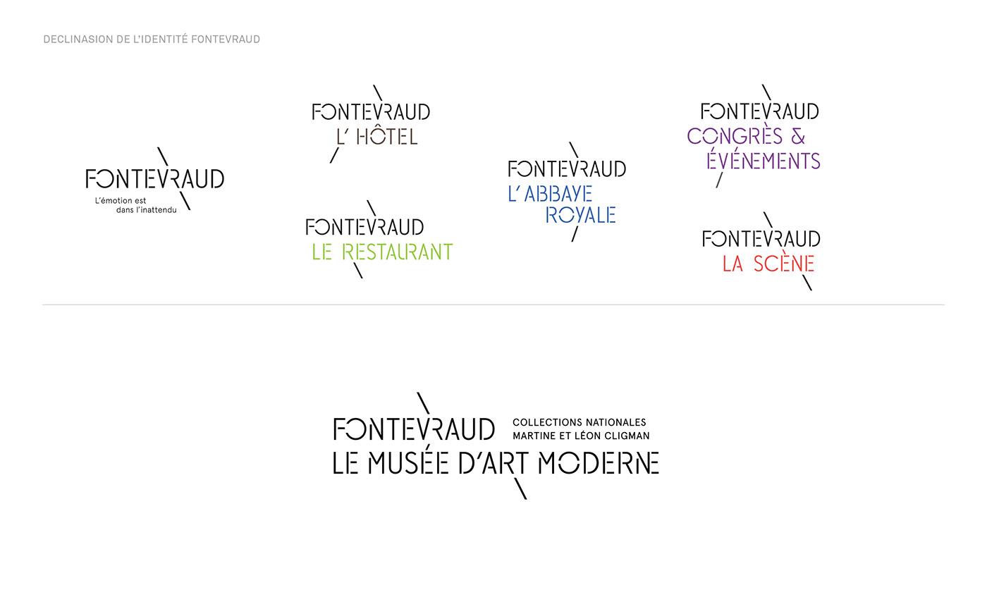 art branding  culture Fontevraud logo museum stencil Tourisme Typeface typography