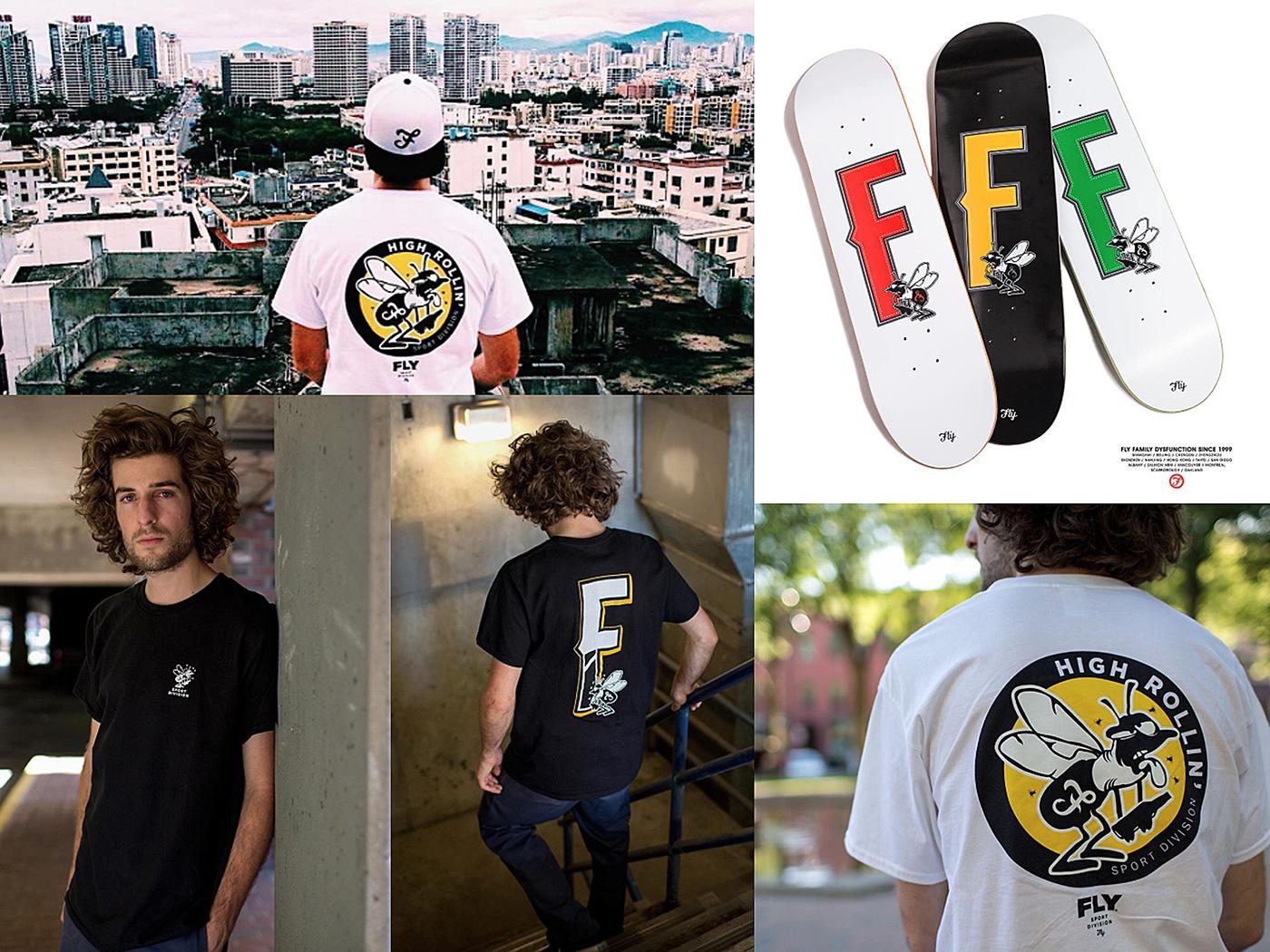 design skateboards t-shirt logo