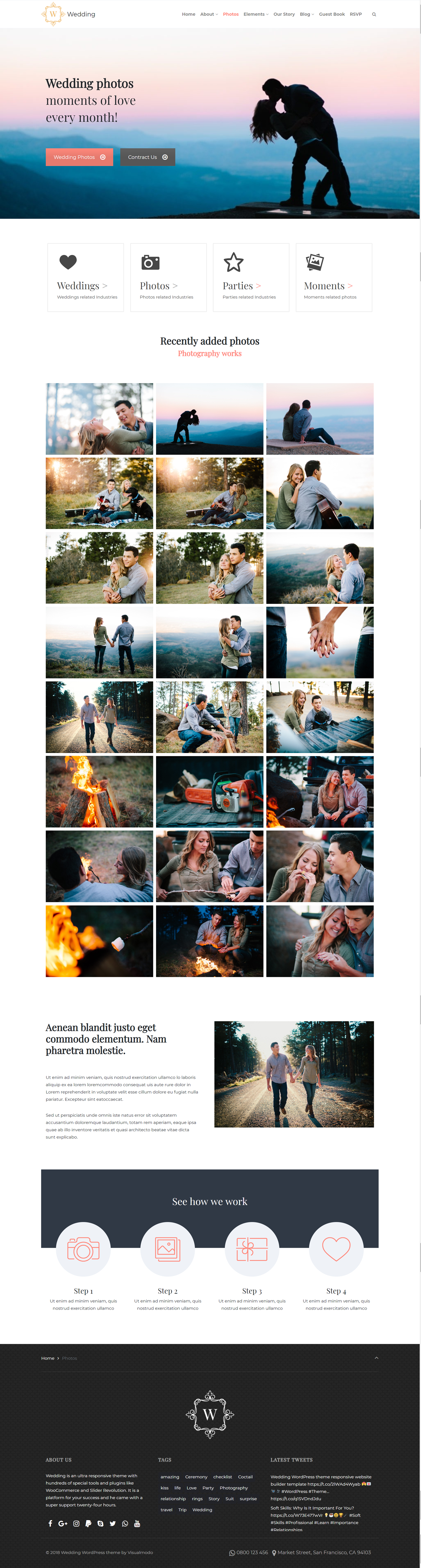 Photos Page - Wedding WordPress Theme