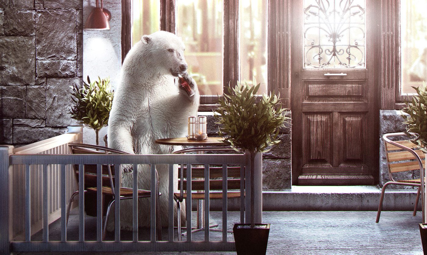 mosk beartucci digital art CGI ristorante
