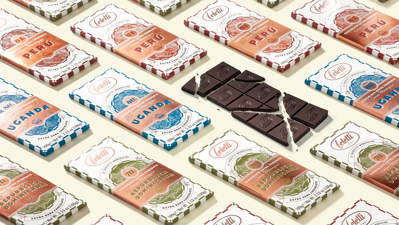 Happycentro chocolate chocolate packaging Packaging packaging design graphic design  vintage vintage style vintage graphics foil
