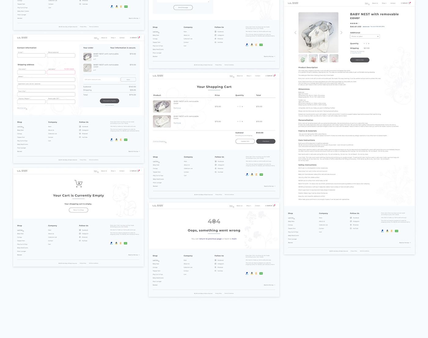baby Web design lite child simple ux/ui etsy goods