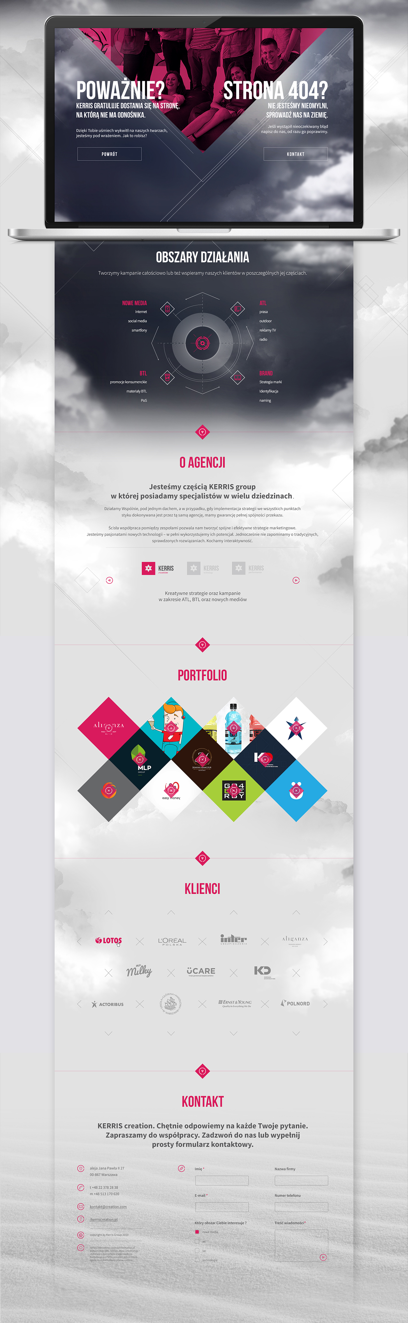 portfolio agency cloud magenta rwd Responsive onepage One page Layout paralax Web brand advertise