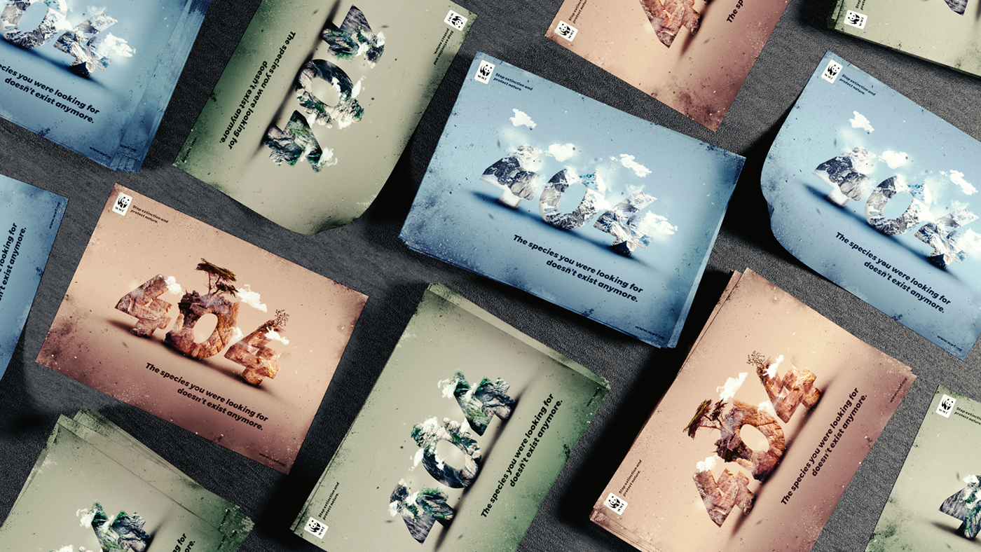 Animal protection,environment protection,campaign,composition,photoshop,unsplash,404 site,compositing