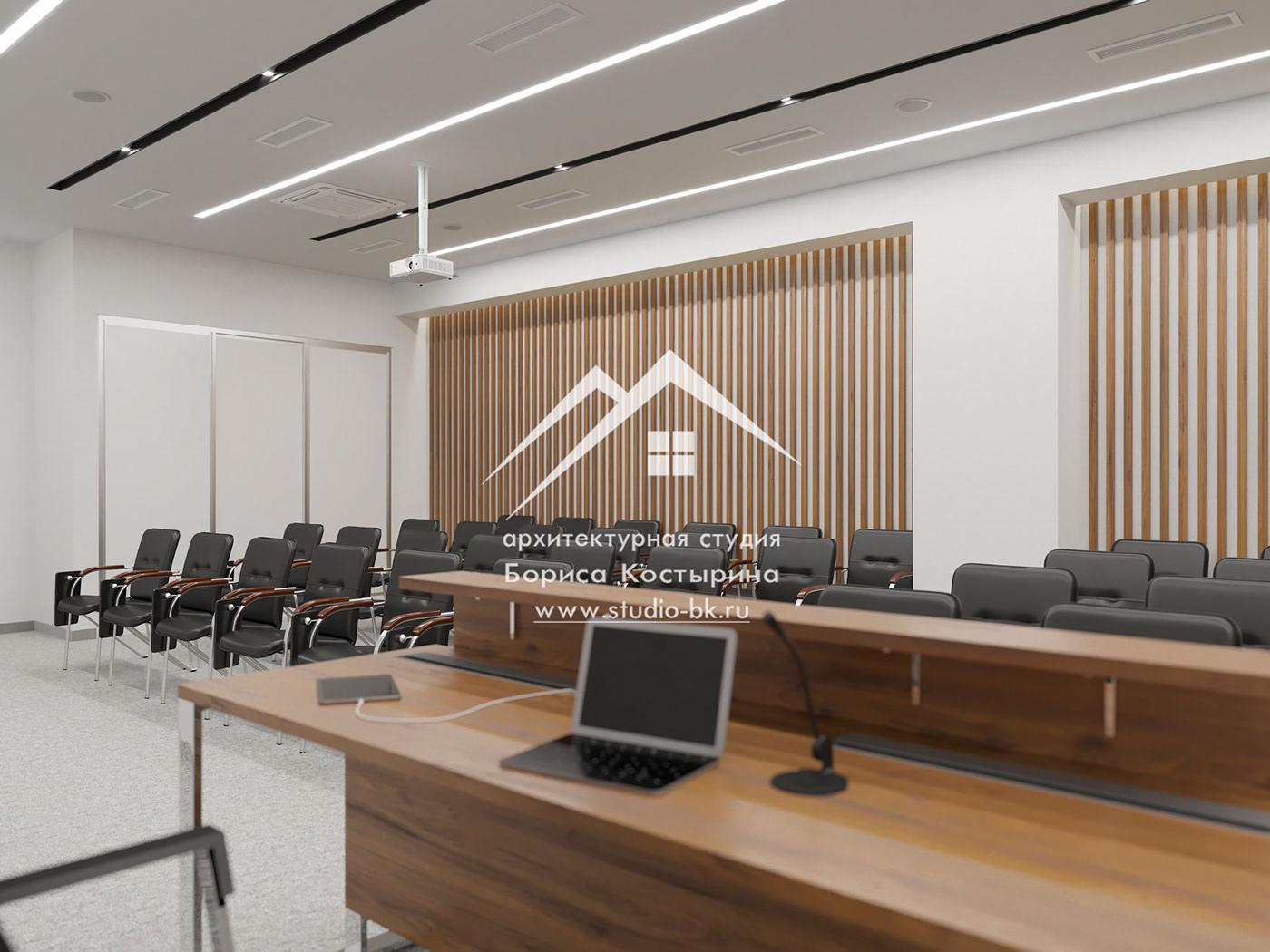 дизайн-проект дизайн-проект офиса Конференц-зал современный стиль стиль техно