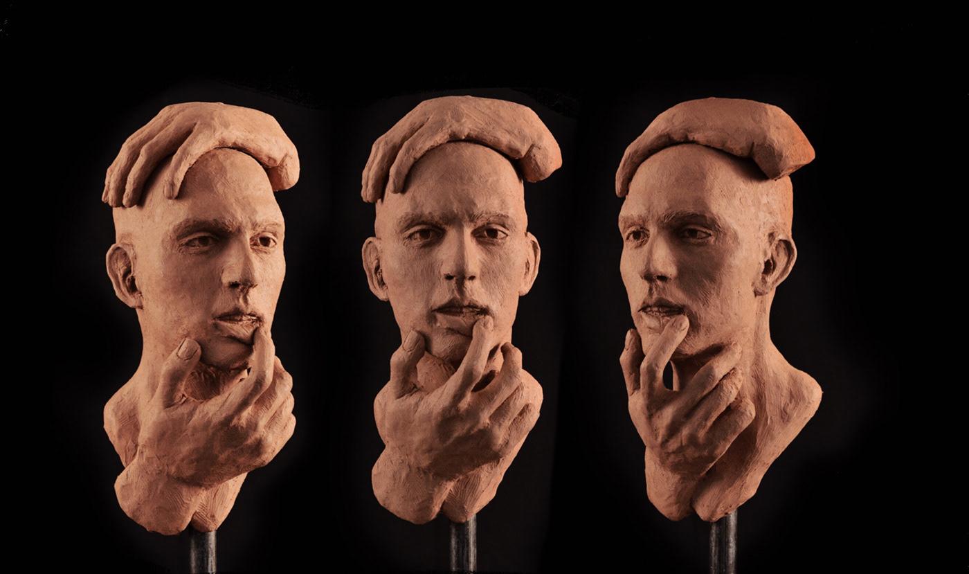 sculpture figure modeling portrait