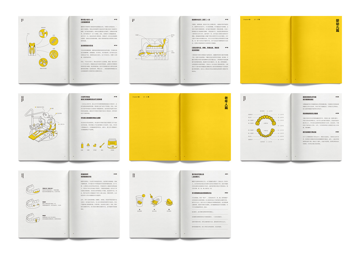 oral Guide book hospital china editorial infographic medical doctor yellow