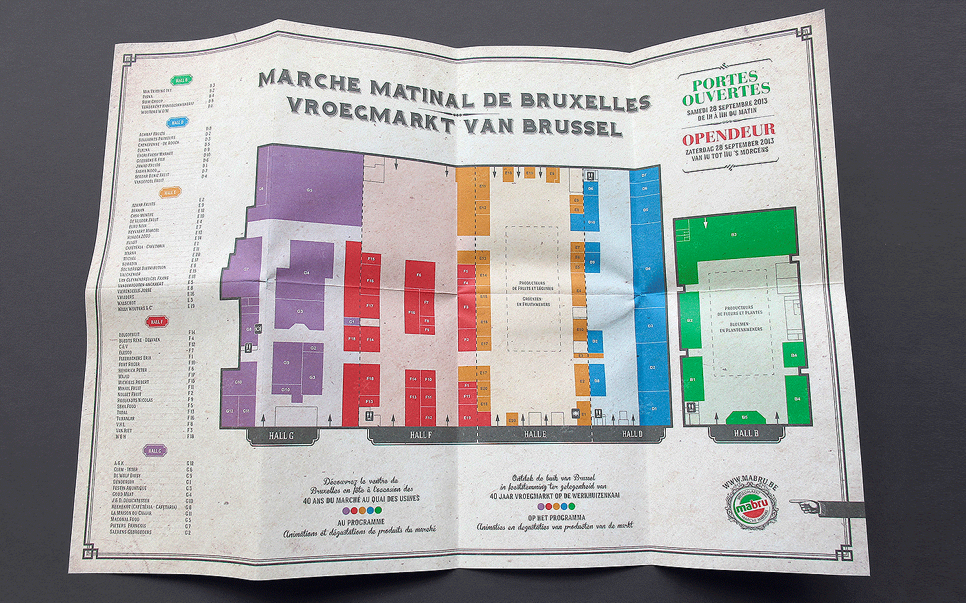 Mabru anniversary open door map Invitation Event evenement marche Plan brussels bruxelles
