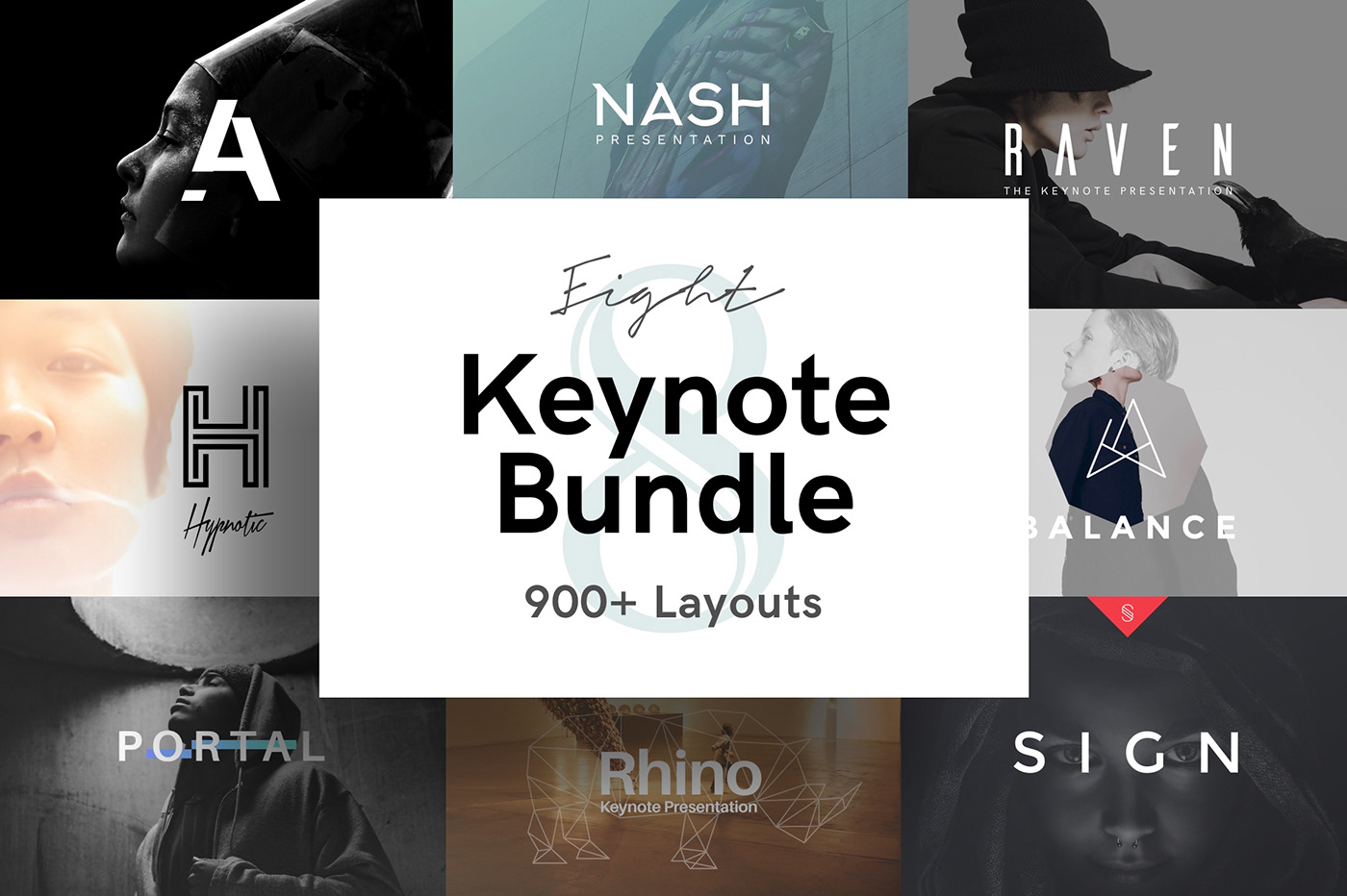 8 keynote presentation bundle on behance