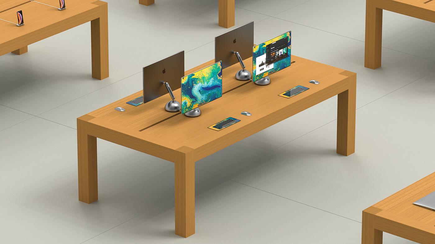 design idustrialdesign apple grapich 3D Render iMac productdesign