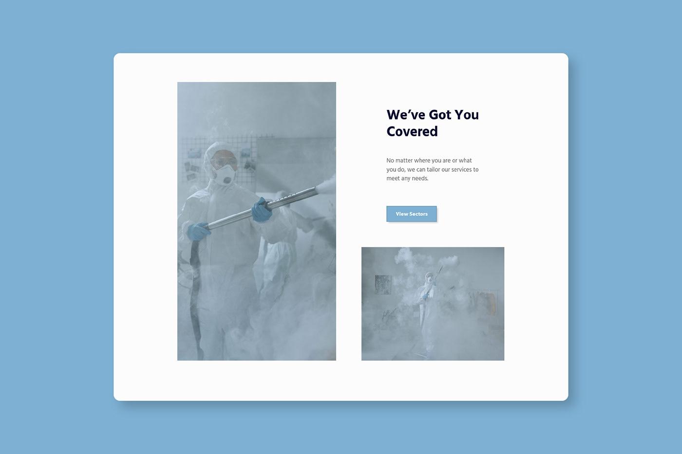 cleaning décontamination Web Design  Website