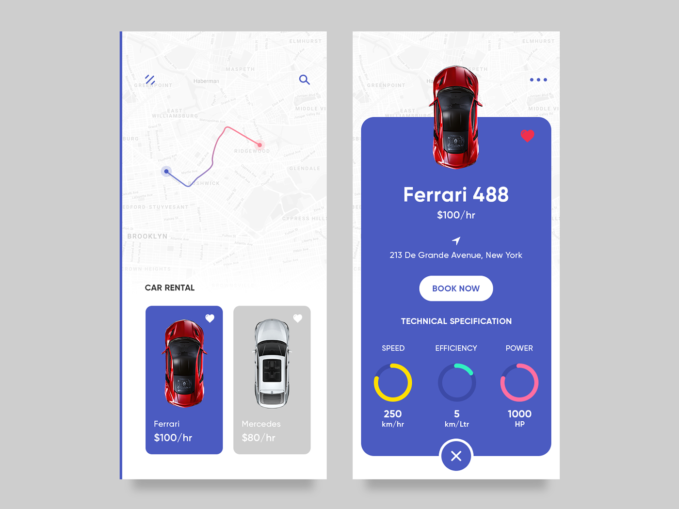 Car Rental App on Behance