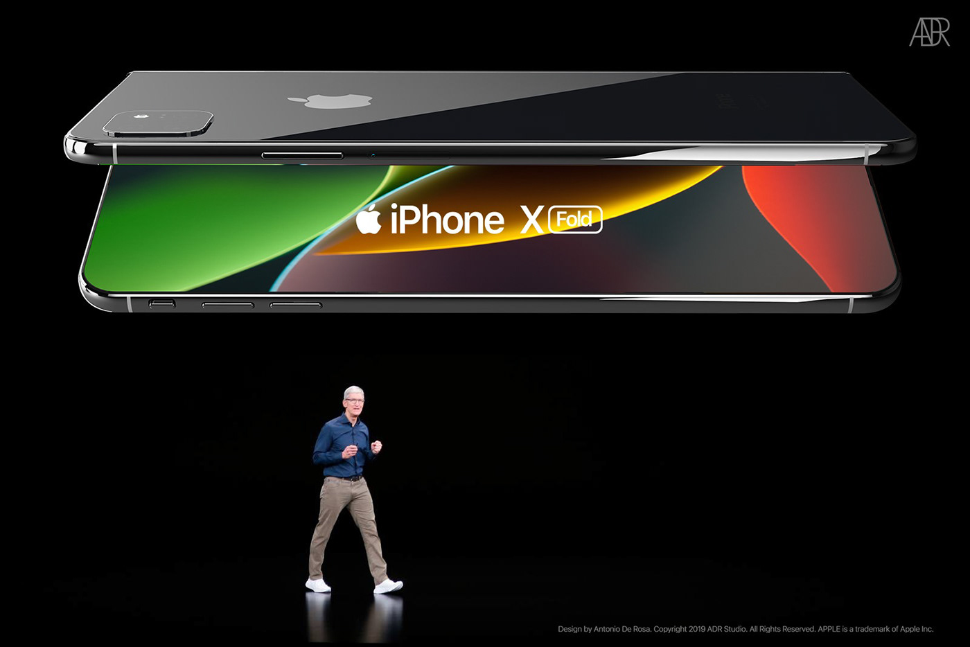 apple iphone fold iphone 11 iPhone XI iphone concept iphone 11 fold iphone xi fold foldable iphone Foldable smartphone