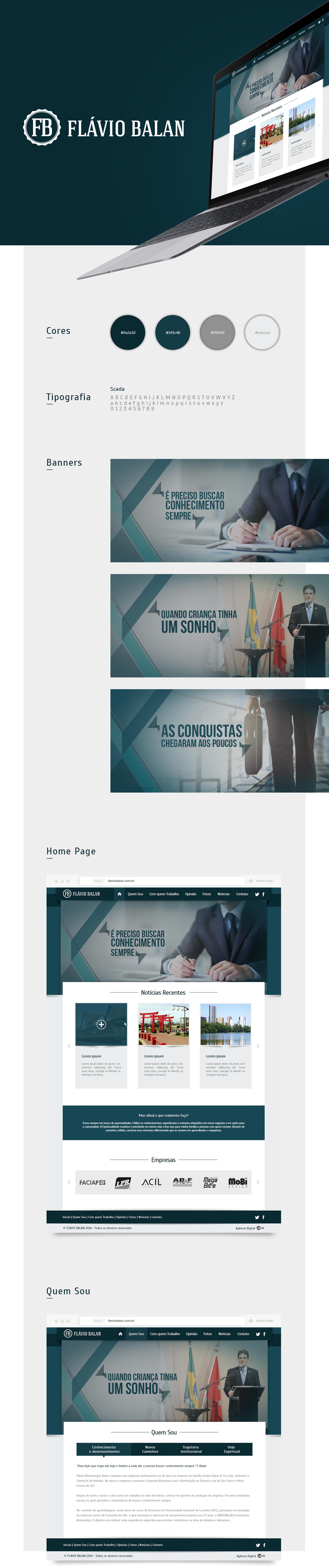 template site Web digital