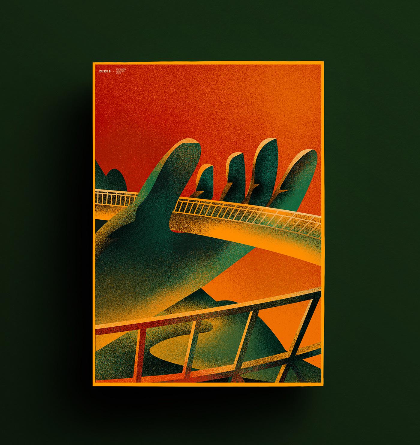 design gift goldenbridge graphicdesign ILLUSTRATION  visualize color concept creative identity