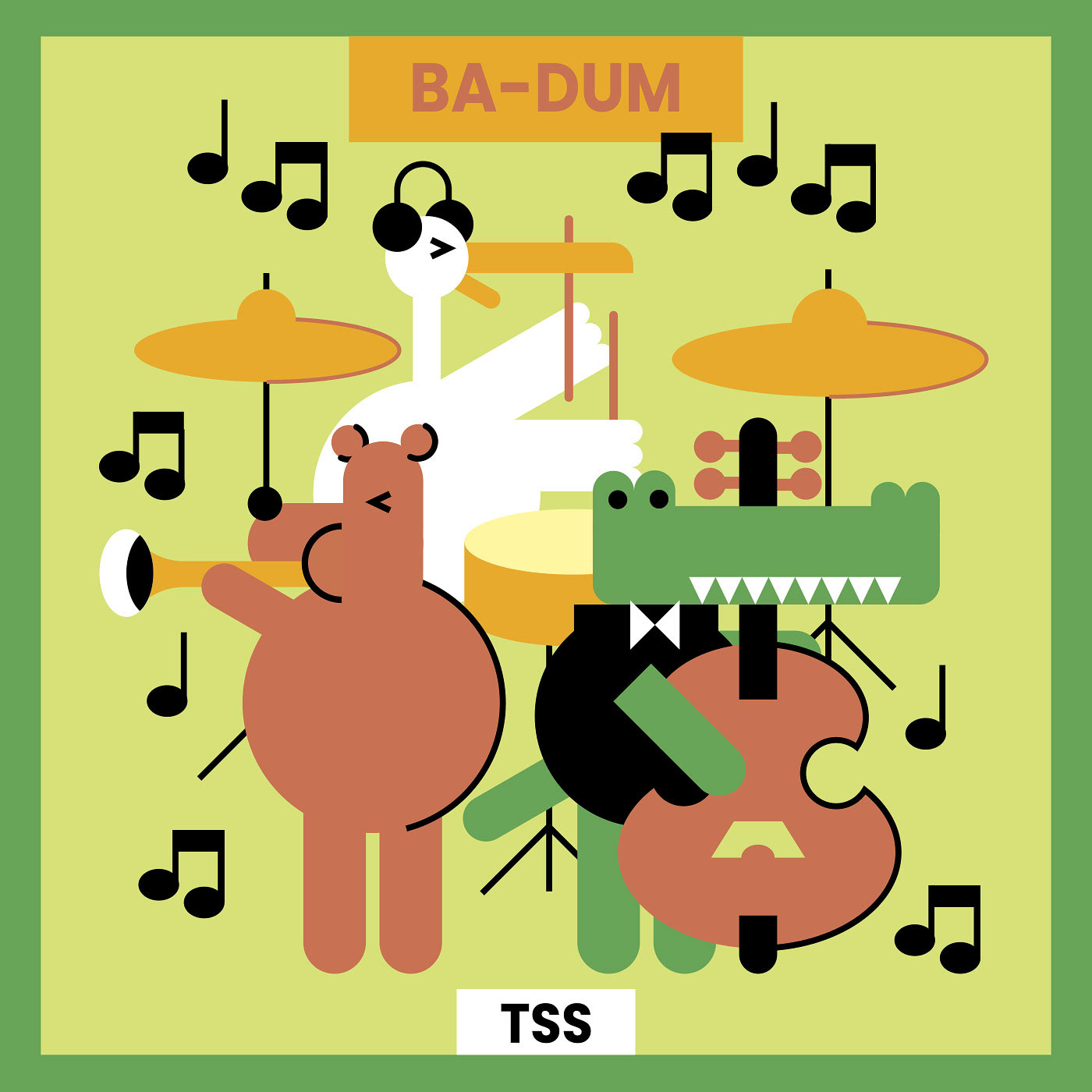 band Character music vector