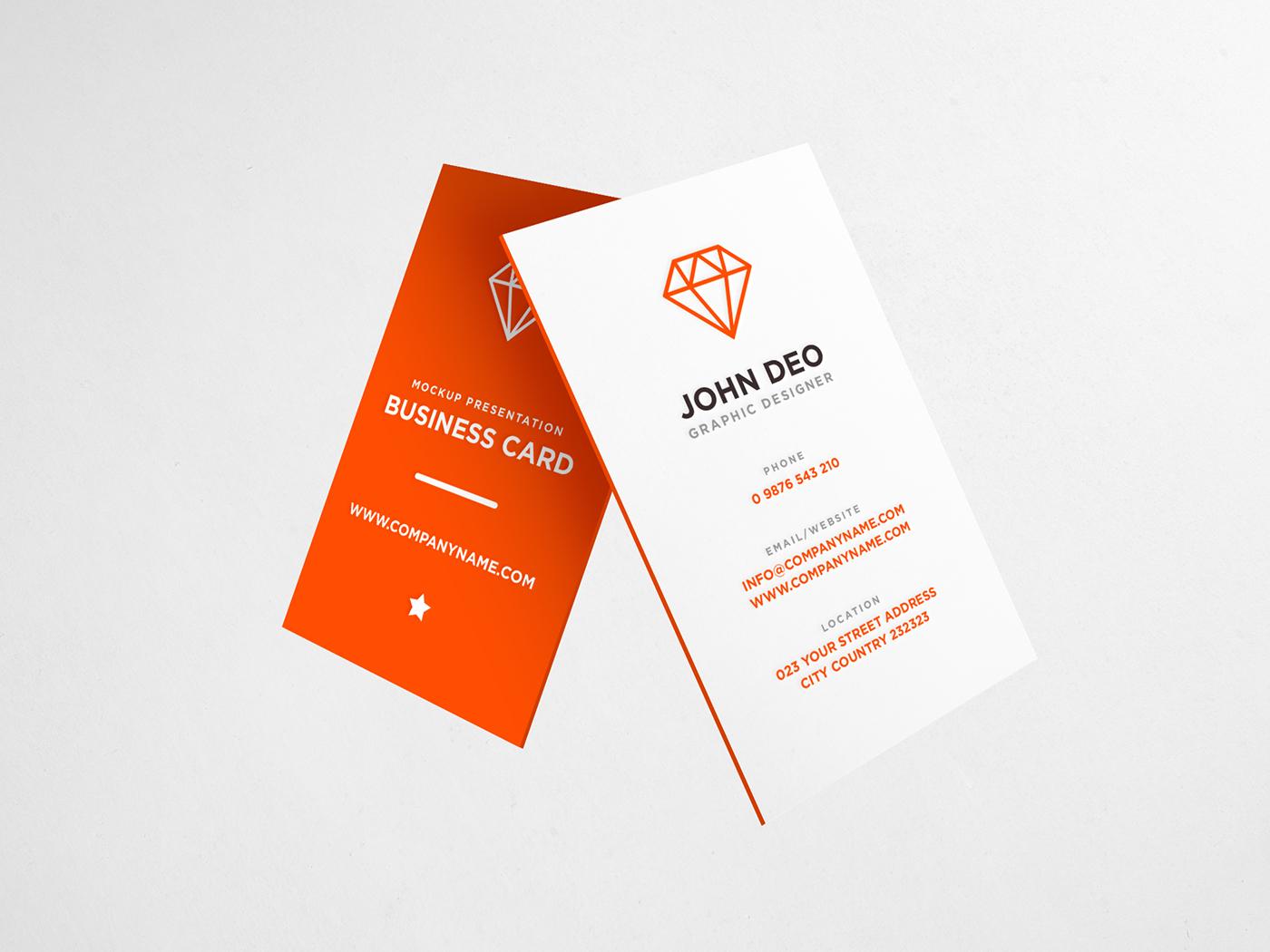 Download Business Card Mockup PSD - Freebie on Behance