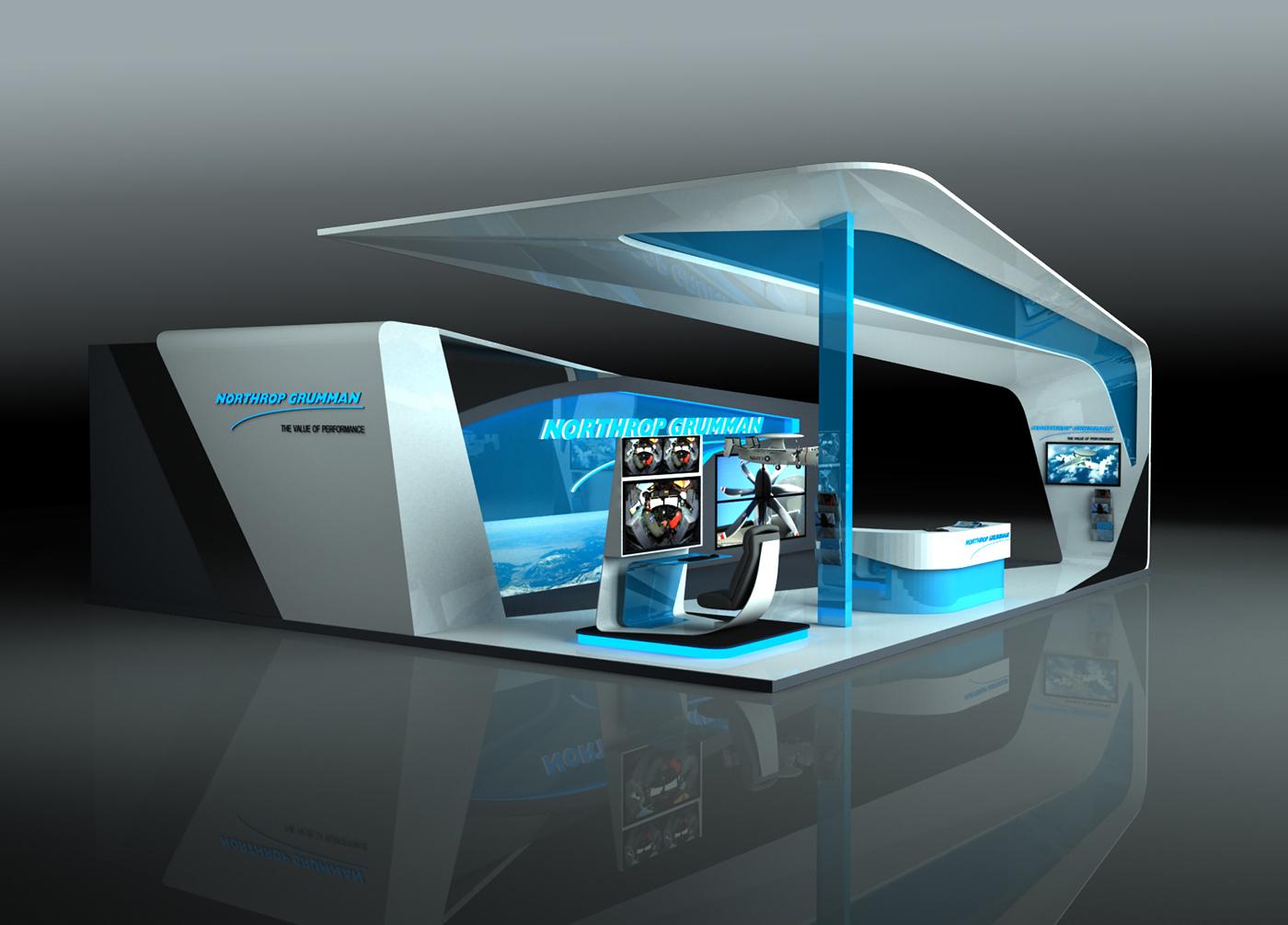 Sungard Exhibition Stand Stands For : Northrop grumman stand design on behance