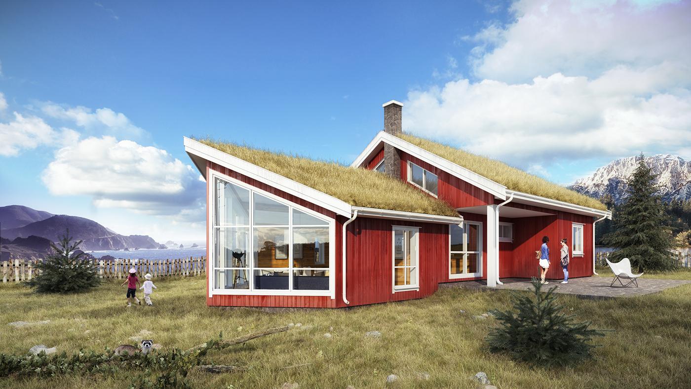 Norwegian Seaside Cabin On Behance