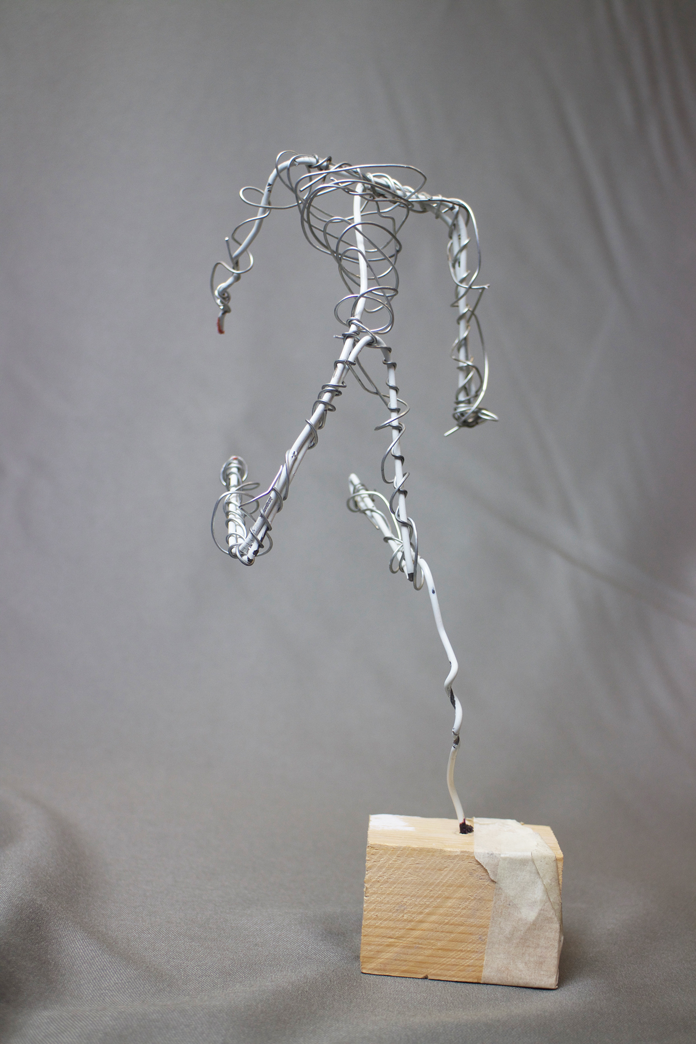 The First Design Was Very Minimal And Focused On Capturing Human Form In Simplest Way Possible
