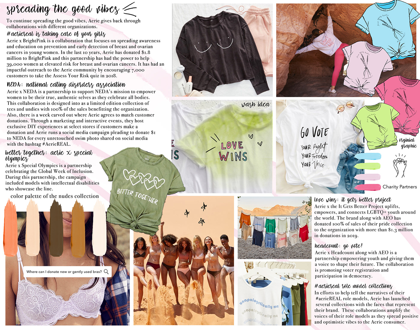 aerieReal color story Company Research concept development customer profile fabric research fashion design fashion illustration silhouette research trend research