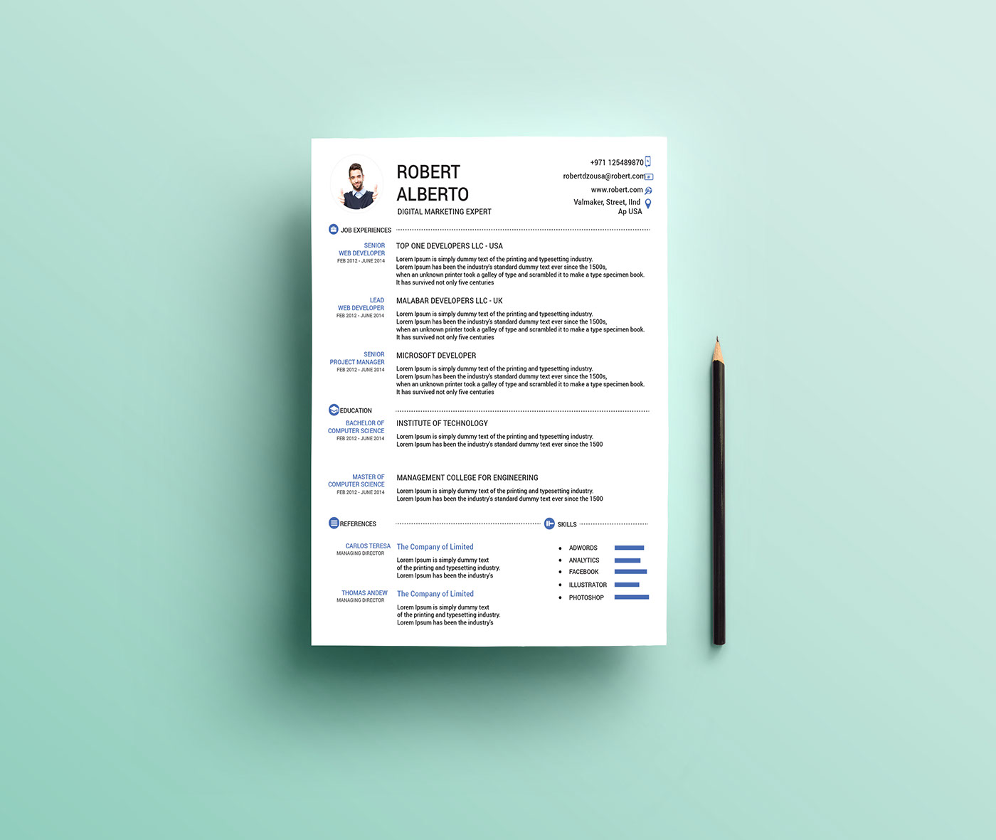Free ResumeCv  Cover Letter On Behance