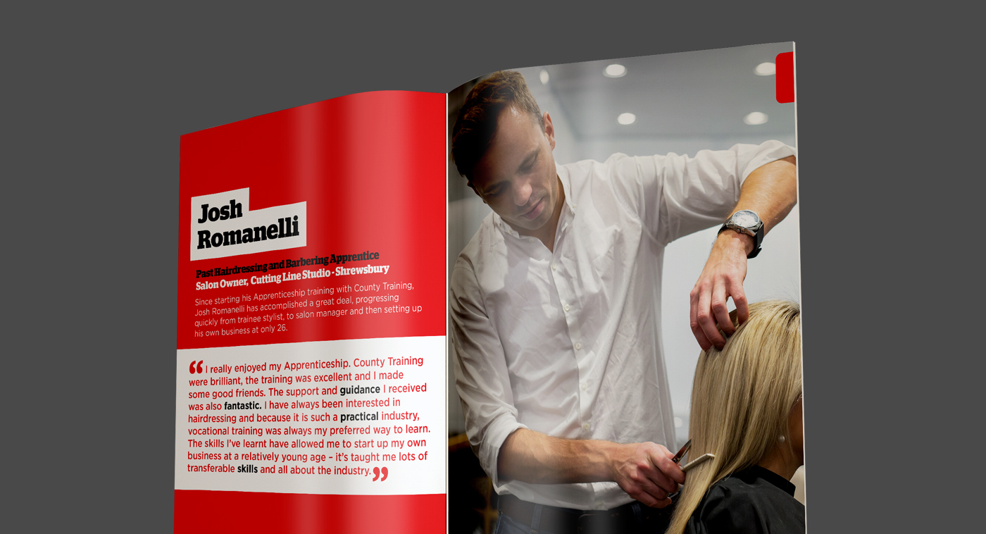 prospectus Booklet information design Apprenticeships council corporate print