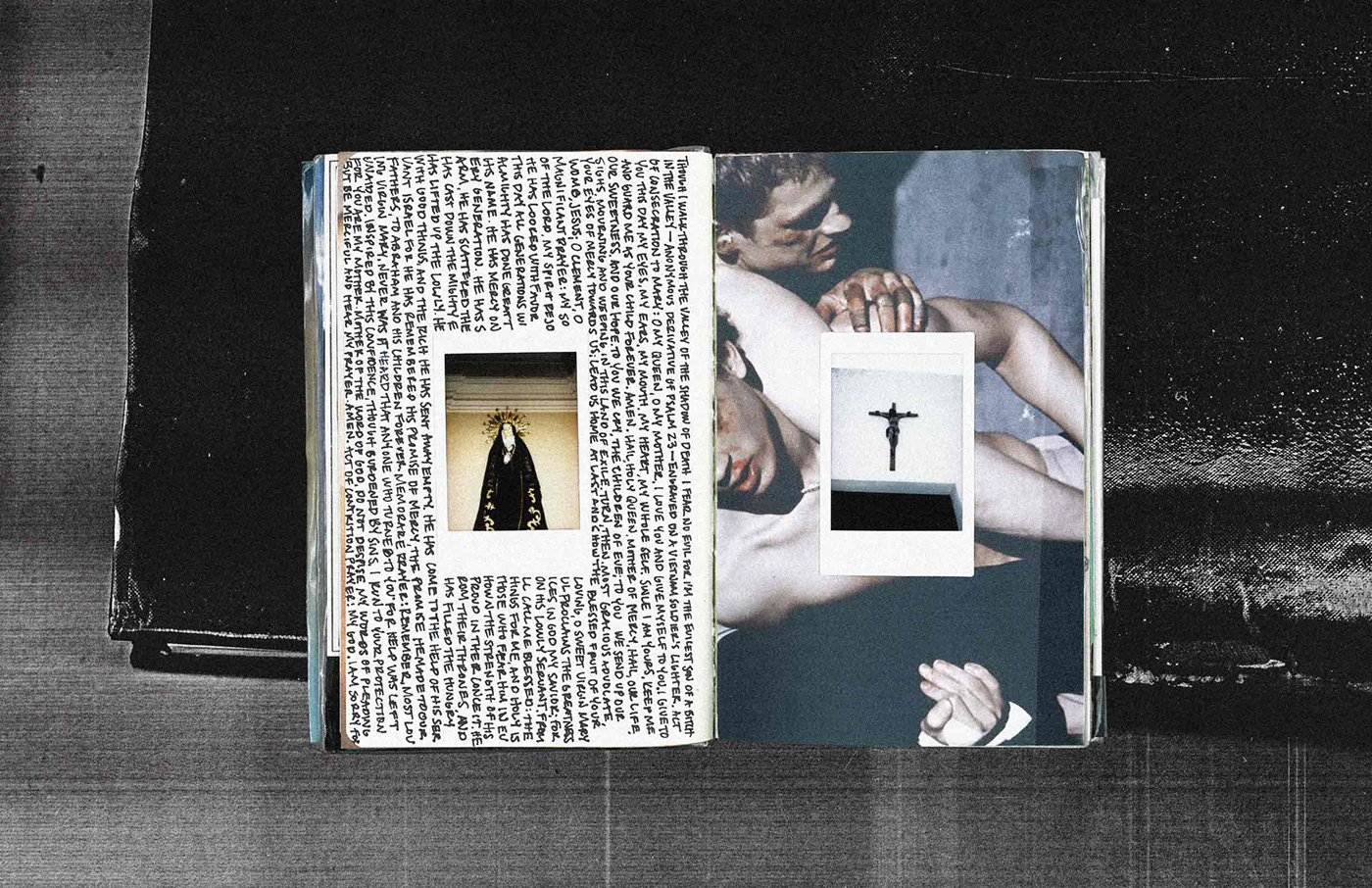 Photography  collage art journal notebook Travel moleskine writing  Multimedia  POLAROID
