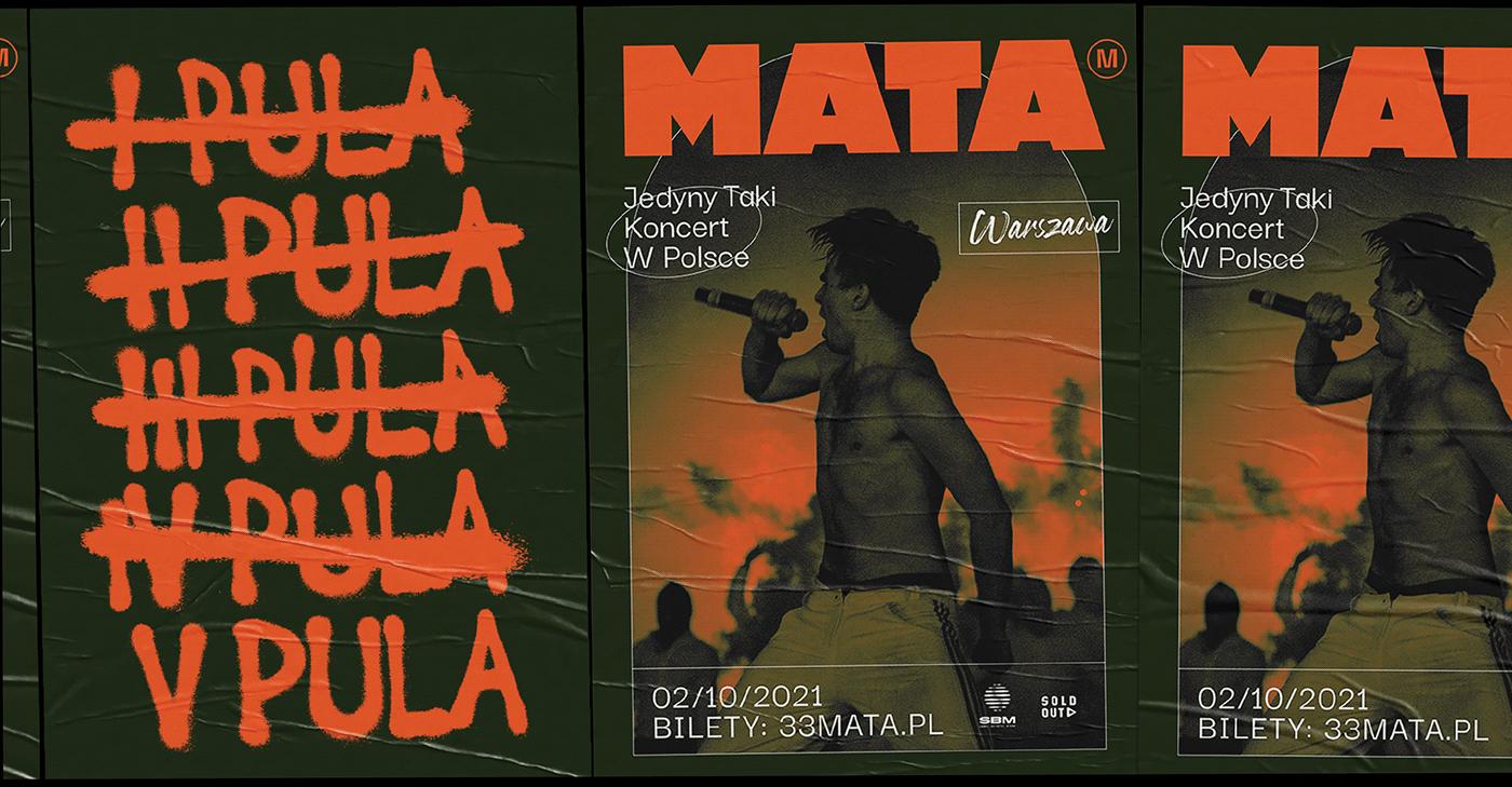 festival branding festival poster MACHALSKI mata Mateusz Machalski  music poster rap poster SBM