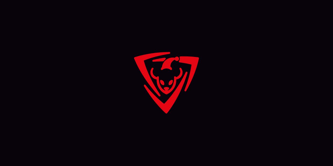Santa Mouse. Logo for gamer's team.
