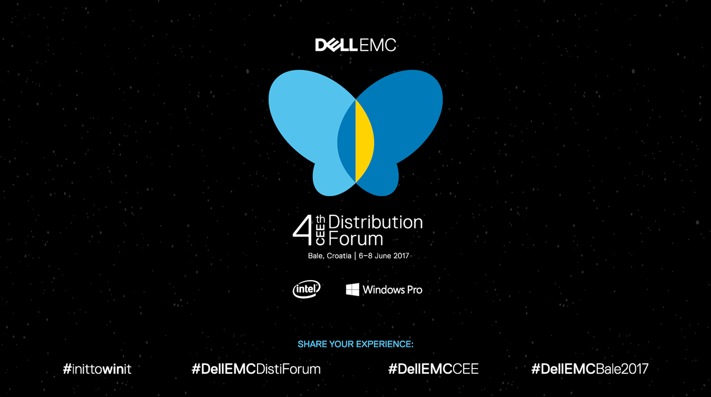 dell Dell EMC Event town-hotel bale istria butterfly Transformation graphic design  Outdoor