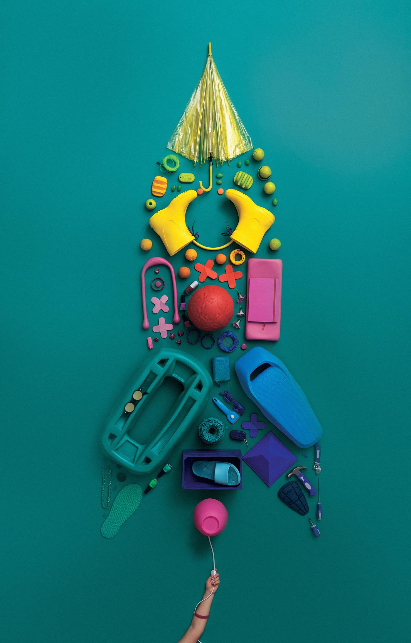 art direction  bologna brahmino bramante flatlay Italy Photography  plastic recycle reuse