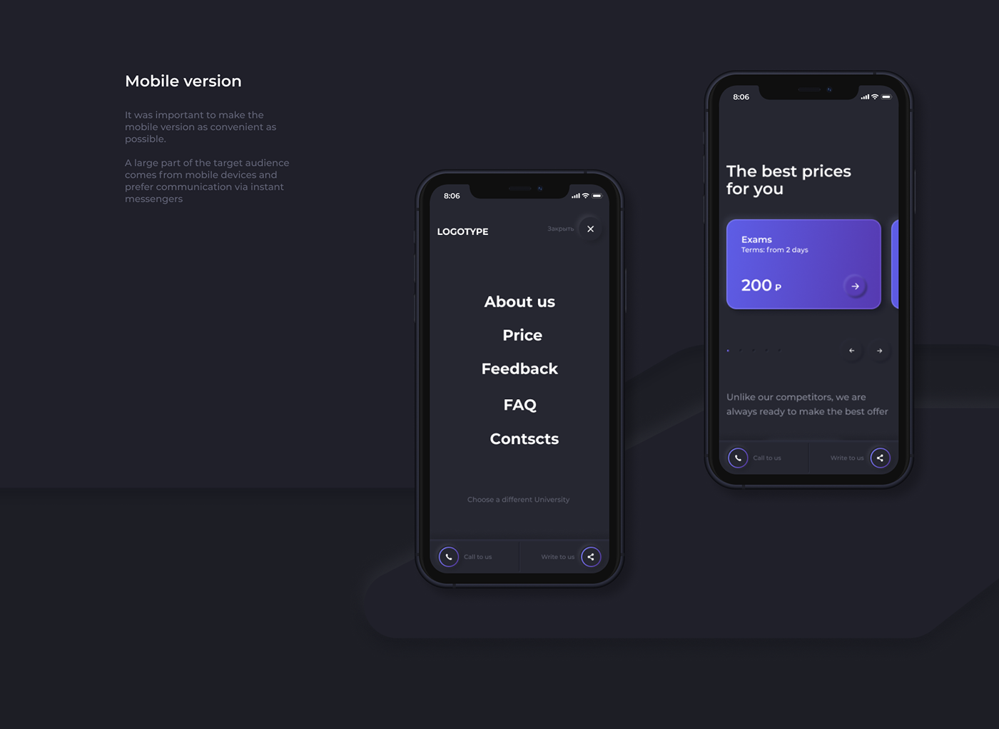 animation  black interaction landing page mobile neomorphism UI ux web-design