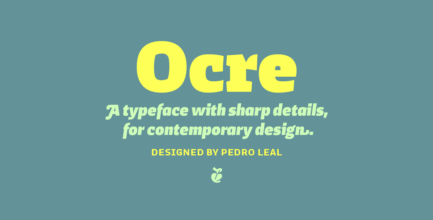 Typeface poster editorial sans serif Swashes bold text