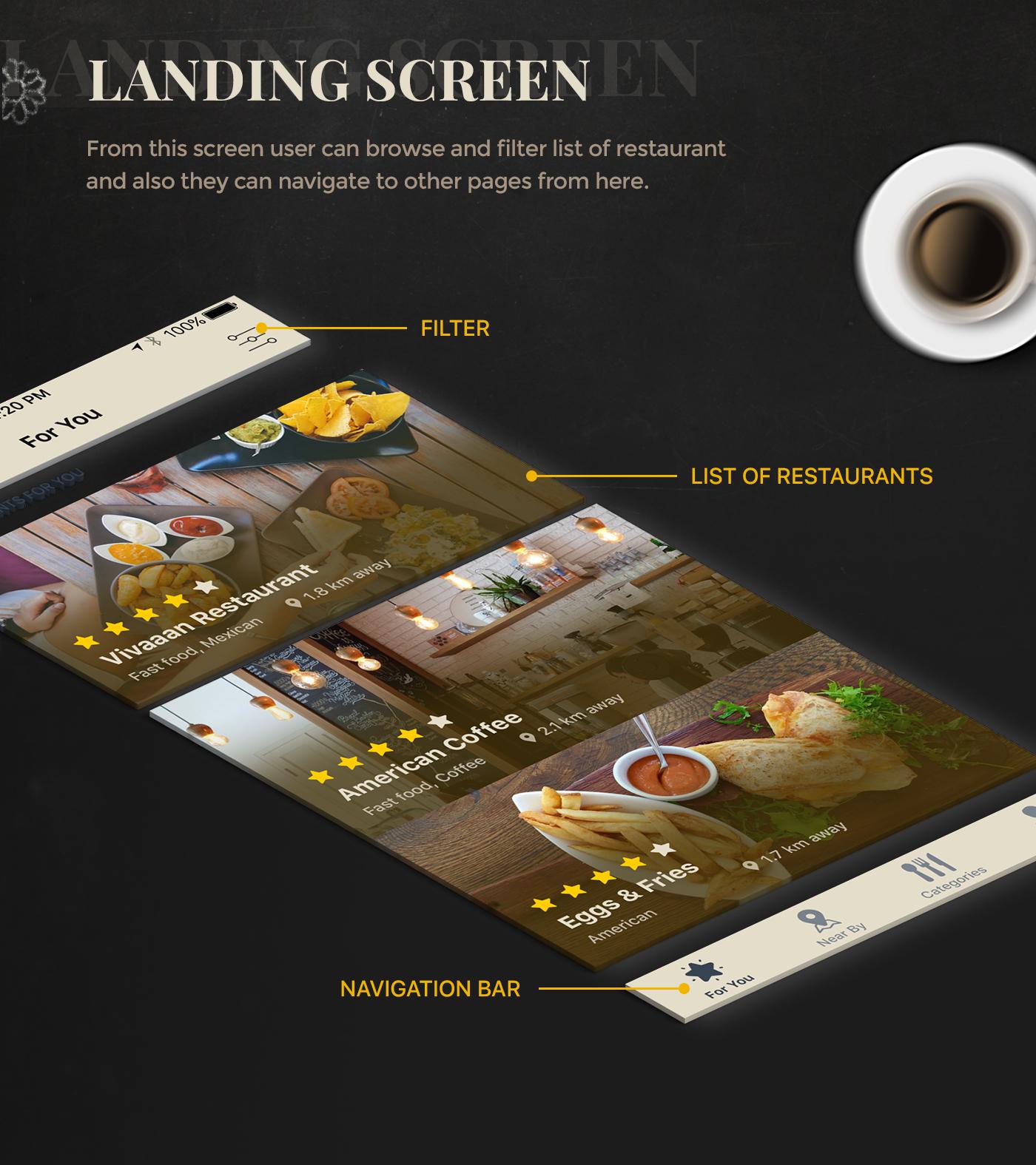 freebie free psd Resturant App food app resturant finder ios