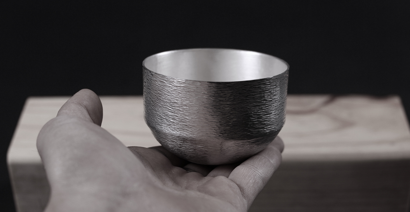 forging silver Silversmithing vessel Whiskey wine texture hammer system steps