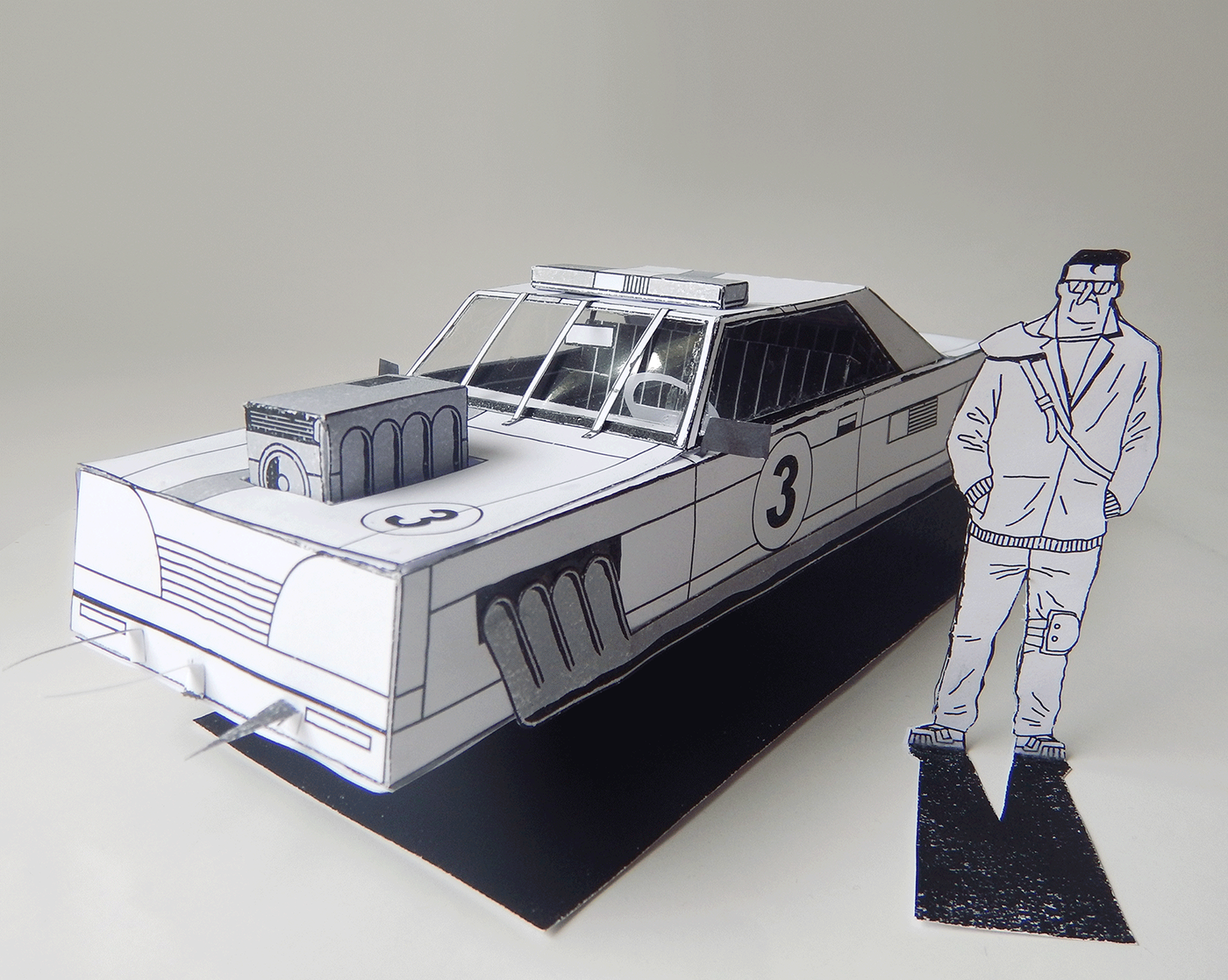 car comic futurodarko machine model paper Sculpt toy warrior wasteland