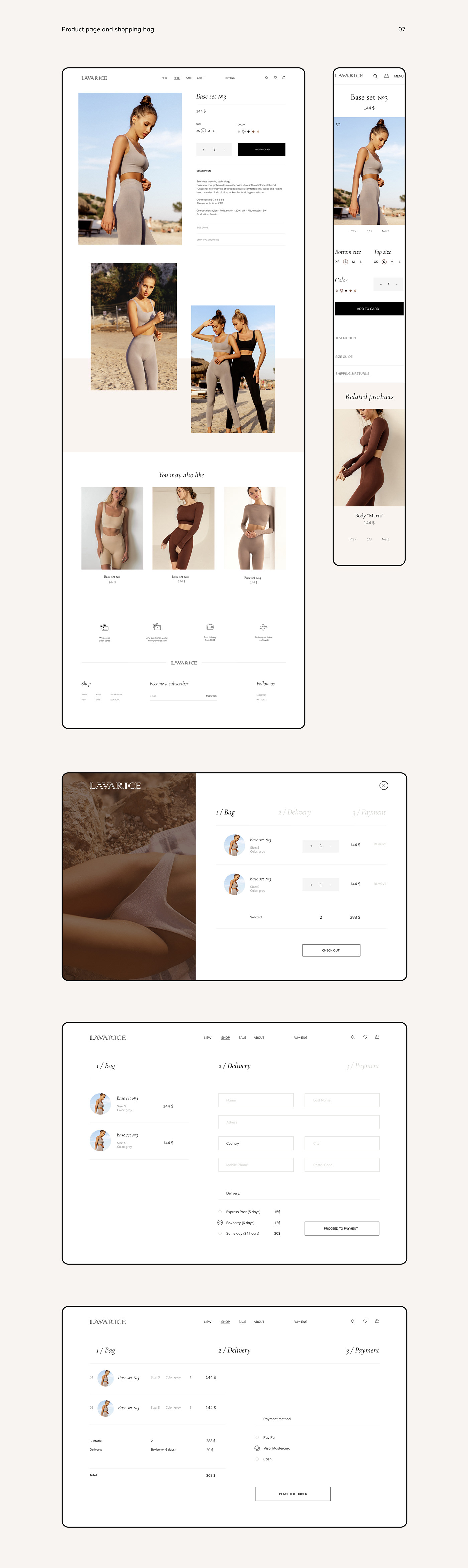 boutique brand E COMMERCE Fashion  fashionbrand onlinestore Sportswear swimwear Webdesign