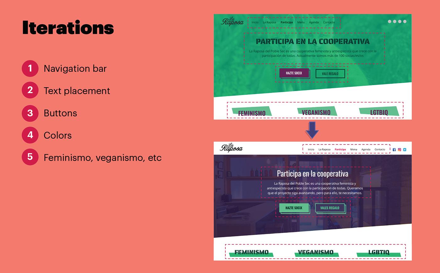 feminist Lgtbiq+ UX UI vegan Web