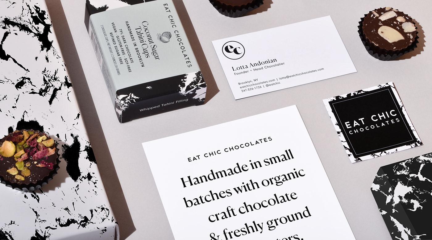 chocolate Food Packaging Brooklyn dieline peanut butter cups Marble abstract prints screenprints vegan gluten-free