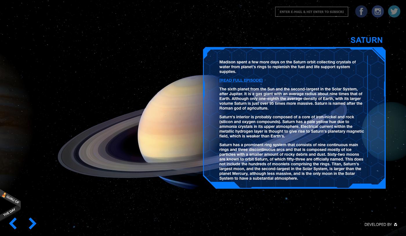 Web Design  Website ILLUSTRATION  music design Space  mars edm artist