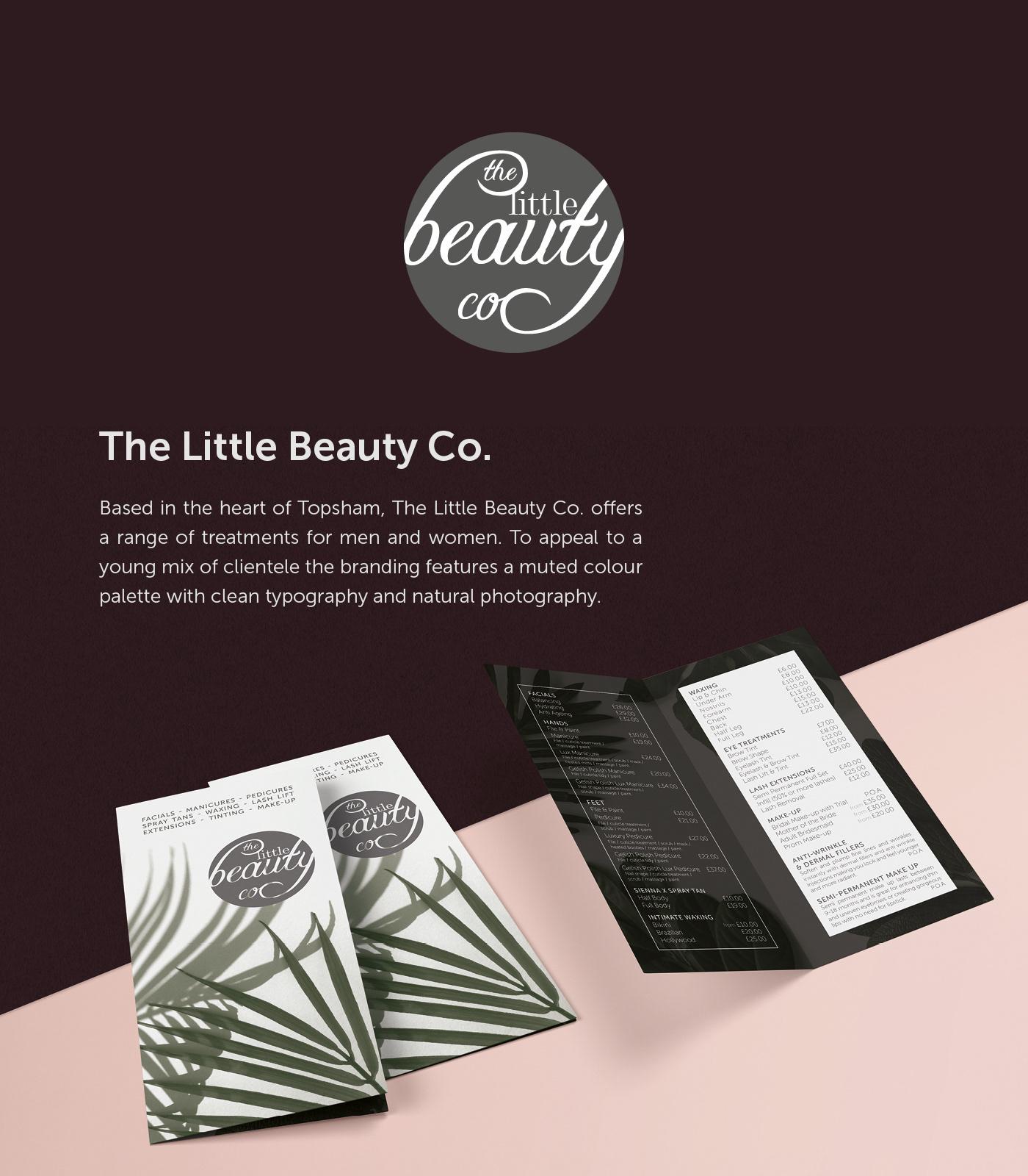 beauty branding  identity logo Logo Design typography   Stationery poster print print design