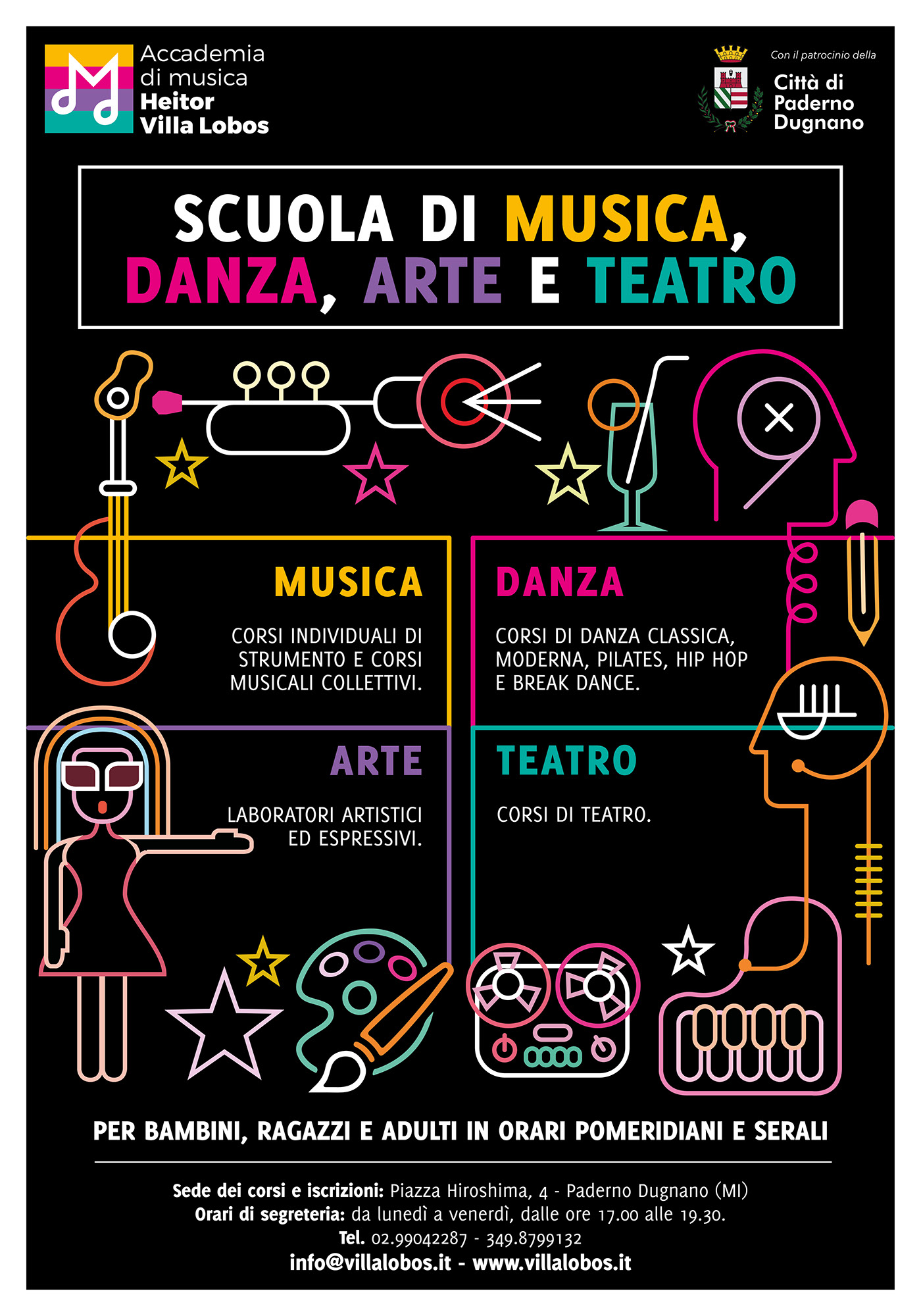 Accademia di musica Villa Lobos - Communication Design on Behance