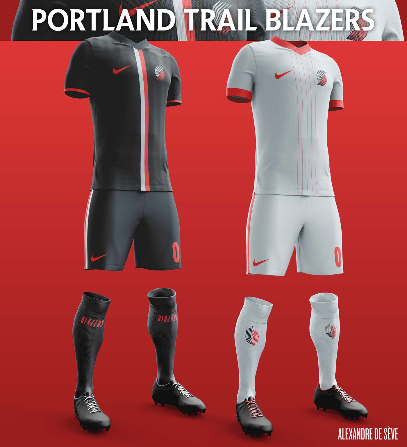 Talisman & Co. | Portland Trailblazers Soccer Concept Kit
