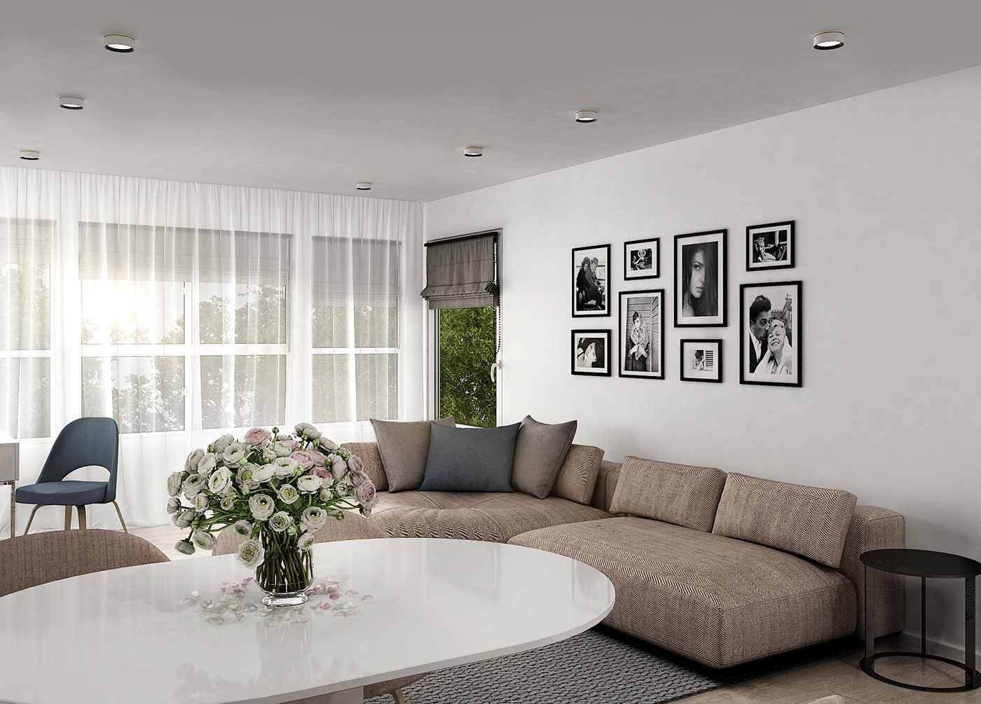 LIVING ROOM + KITCHEN for Vancouver Private Apartment on Behance