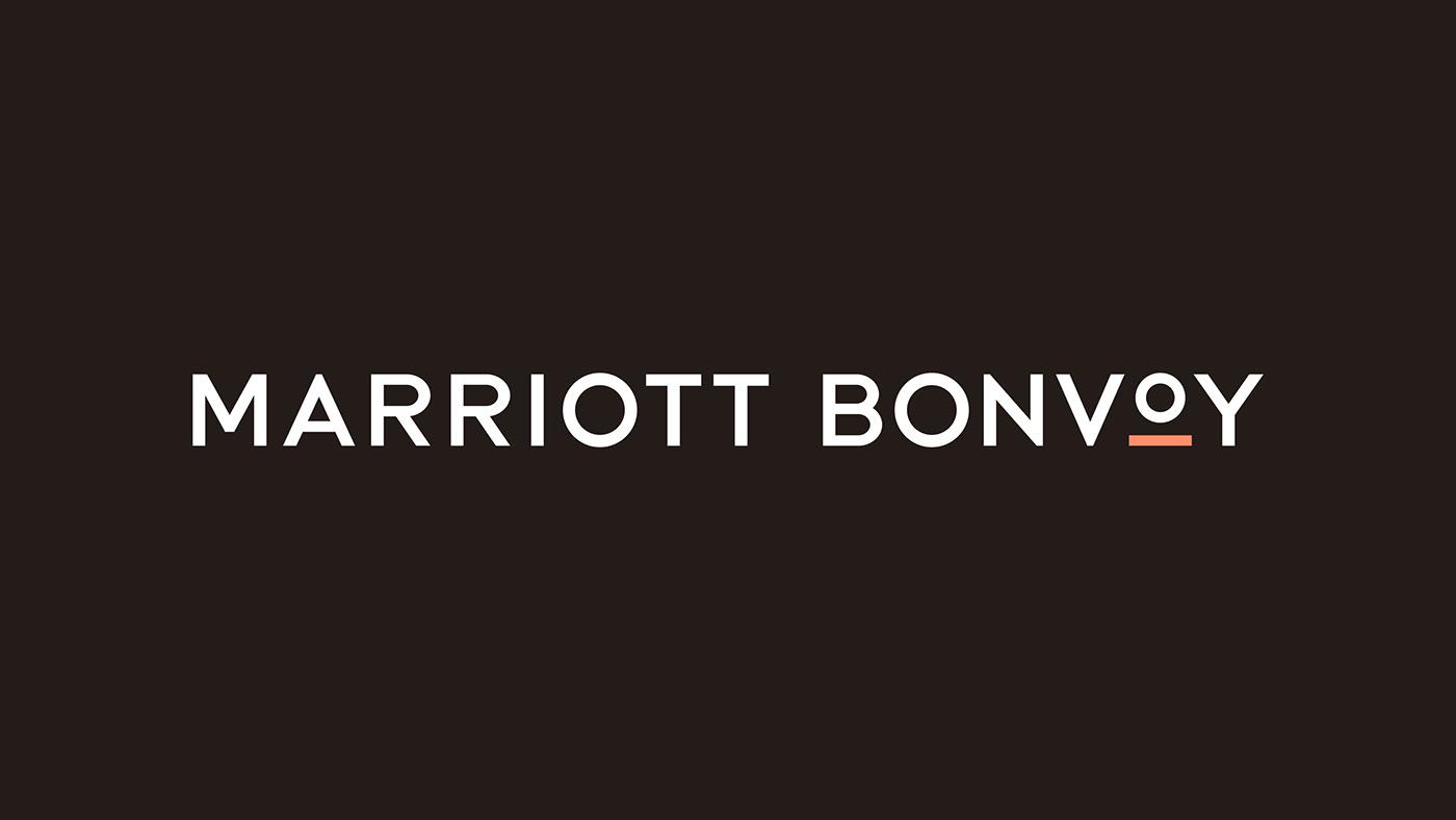 Marriott bonvoy logo branding  design Travel hotels modern minimal Sunrise