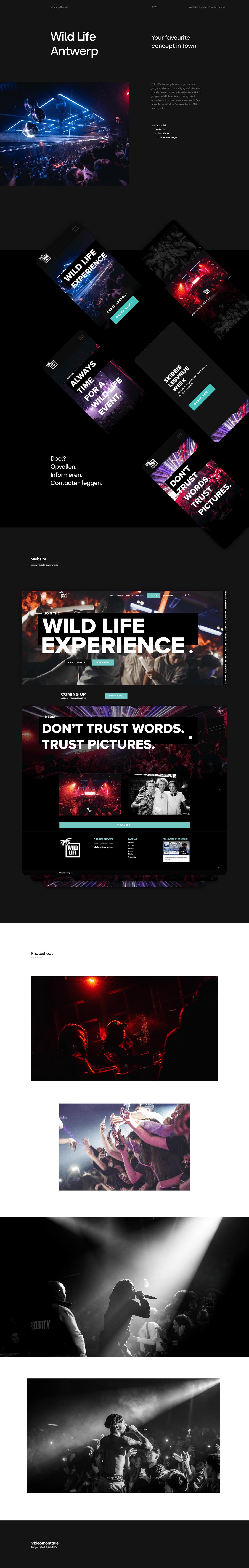 minimal party Webdesign Website
