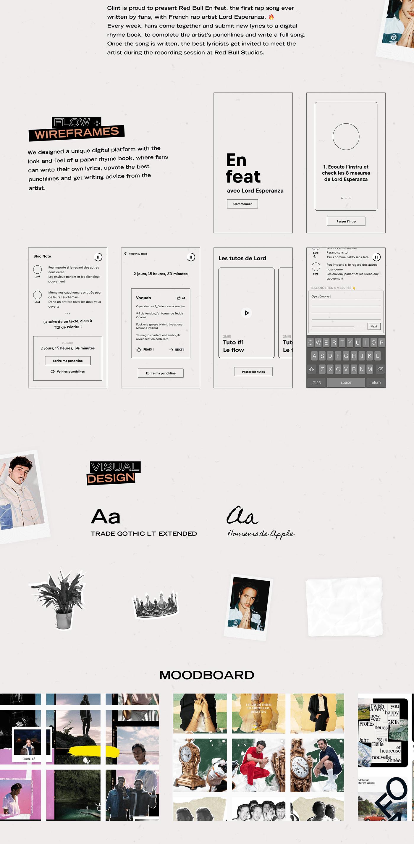 animation  featuring Lord Esperanza rap Collaboration contest design Interface