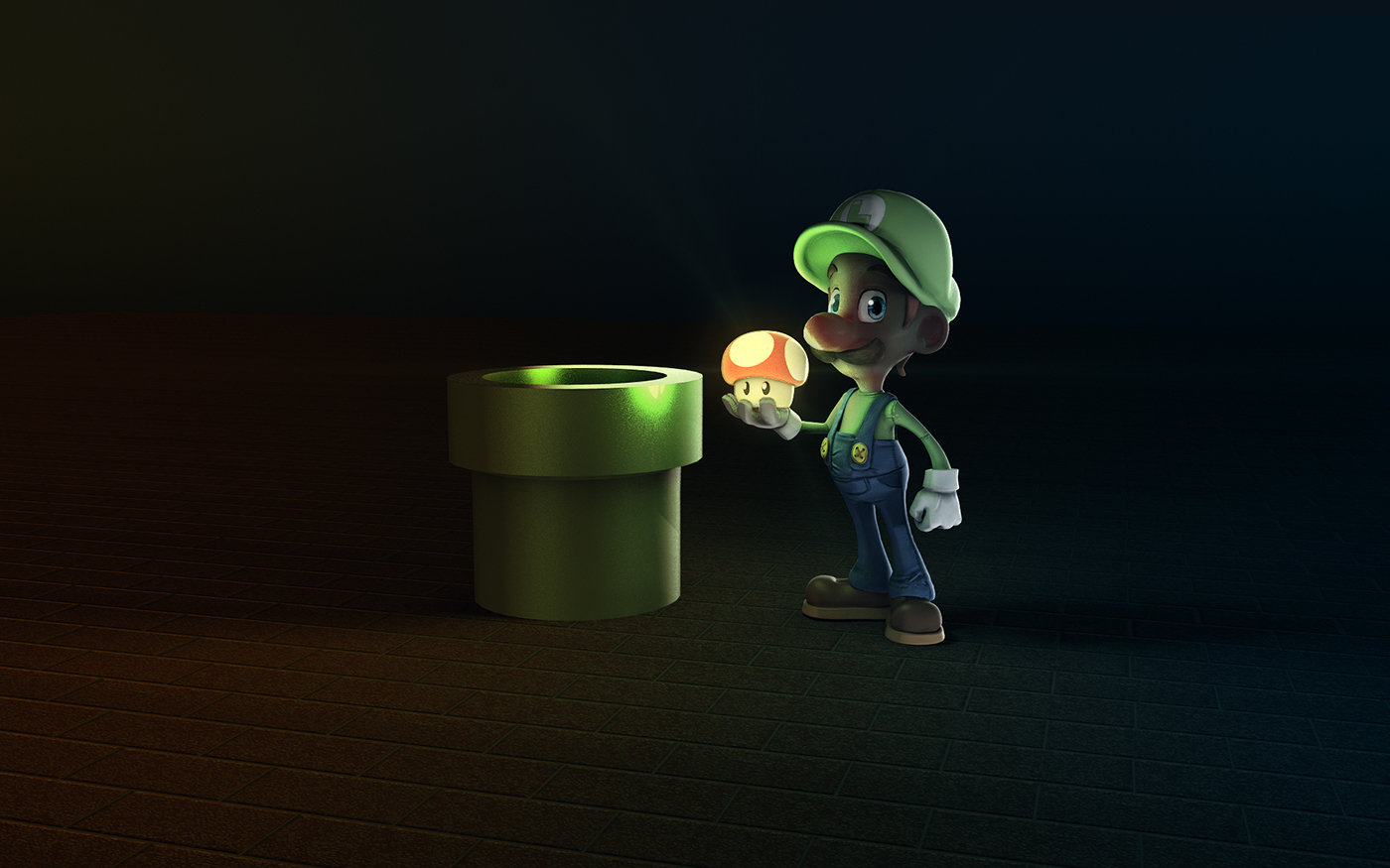 Luigi 3D Character Zbrush