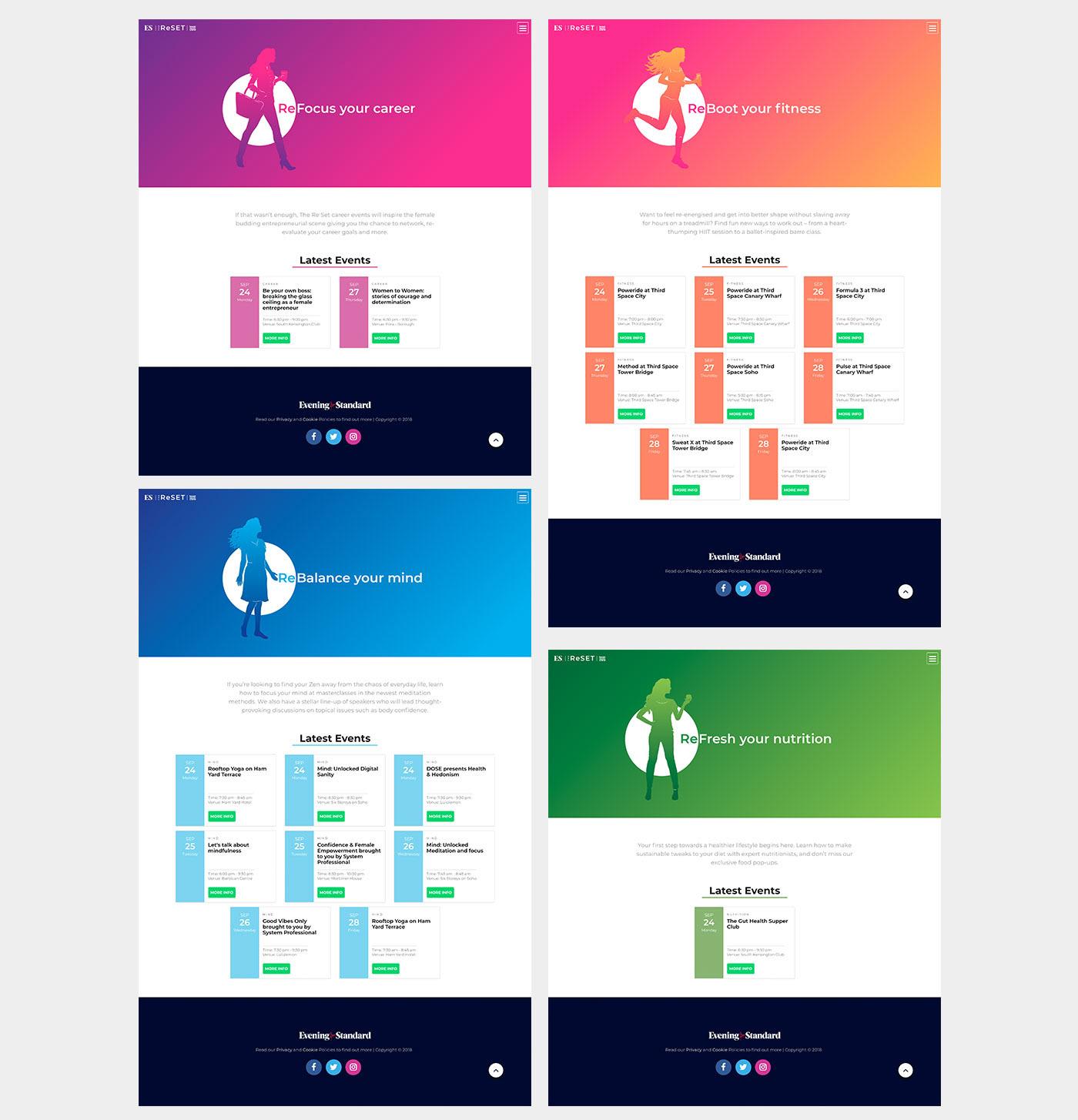 Evening Standard The Reset Event Website UI/UX Design